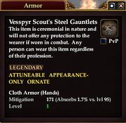 Vesspyr Scout's Steel Gauntlets