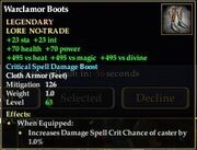 Warclamor Boots