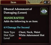 Ethereal Adornment of Damaging (Lesser)
