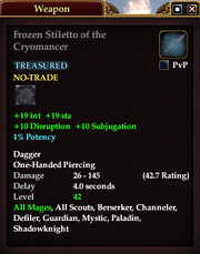 Frozen Stiletto of the Cryomancer