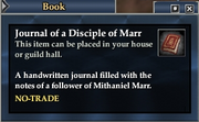Journal of a Disciple of Marr