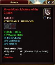 Myrmidon's Sabatons of the Citadel