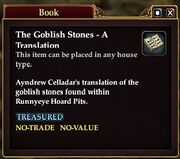 The Goblish Stones - A Translation