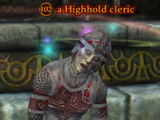 A Highhold cleric