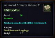 Advanced Armorer Volume 28