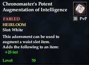 Chronomaster's Potent Augmentation of Intelligence