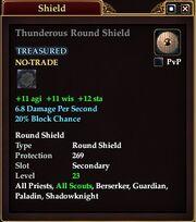 Thunderous Round Shield