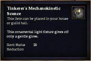 Tinkerer's Mechanokinetic Sconce