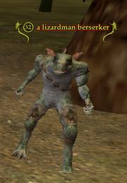 A lizardman berserker
