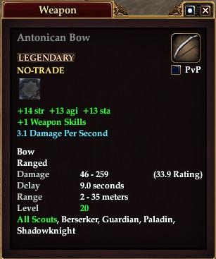 Antonican Bow | EverQuest 2 Wiki | FANDOM powered by Wikia