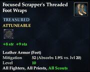 Focused Scrapper's Threaded Foot Wraps