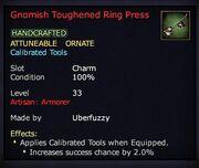 Gnomish Toughened Ring Press