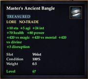 Master's Ancient Bangle