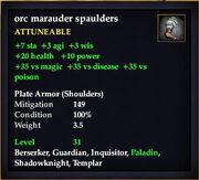 Orc marauder spaulders