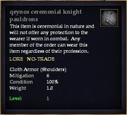 Qeynos ceremonial knight pauldrons
