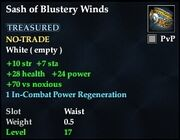 Sash of Blustery Winds