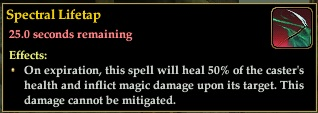Spectral lifetap curse from mist wraiths in shrouded temple