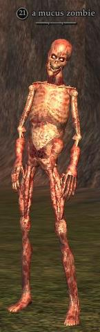 A mucus zombie
