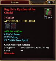Beguiler's Epaulets of the Citadel