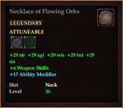 Necklace of Flowing Orbs