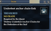 Underfoot anchor chain-link