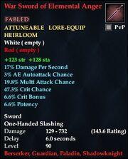 War Sword of Elemental Anger