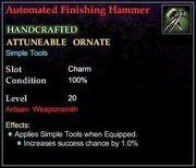 Automated Finishing Hammer