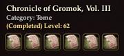 Chronicle of Gromok, Vol. III coll