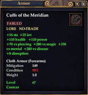 Cuffs of the Meridian
