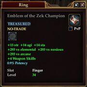 Emblem of the Zek Champion