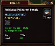 Fashioned Palladium Bangle