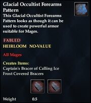 Glacial Occultist Forearms Pattern