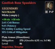 Gnollish Bone Spaulders