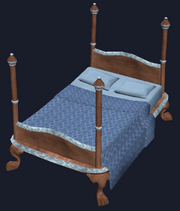 Mahogany queen bed (Visible)