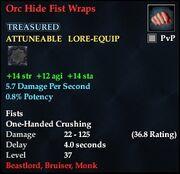 Orc Hide Fist Wraps