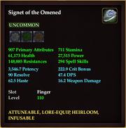 Signet of the Omened