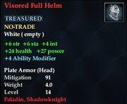 Visored Full Helm