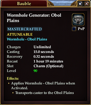 Wormhole Generator - Obol Plains