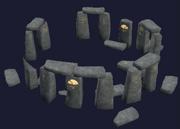 A gray granite druid ring (Visible)