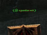 A guardian writ