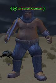 An exiled Kromtorr