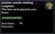 Azurite Rotating Sculpture