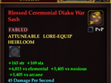 Blessed Ceremonial Diaku War Sash