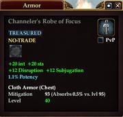 Channeler's Robe of Focus