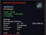 Dull Iron Steel Pounder