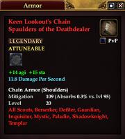 Keen Lookout's Chain Spaulders of the Deathdealer