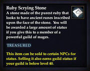 Ruby Scrying Stone