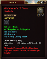 Witchdoctor's Ill Omen Hauberk