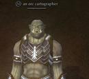 An orc cartographer