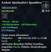 Archaic Spiritualist's Spaulders